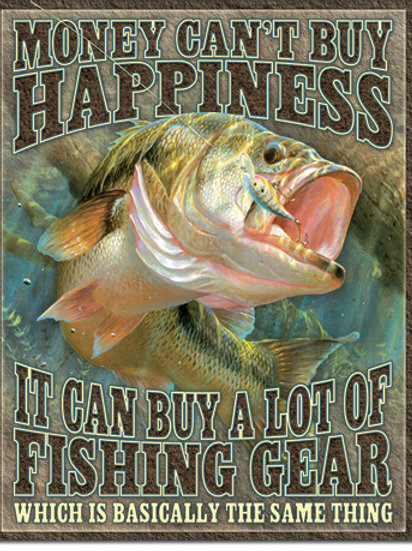 Fishing Happiness Metal Sign #2356