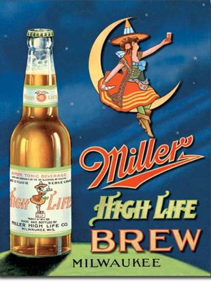 Miller High Life Brew Metal Sign #978