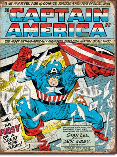 Captain America Comic Cover Metal Sign #1970