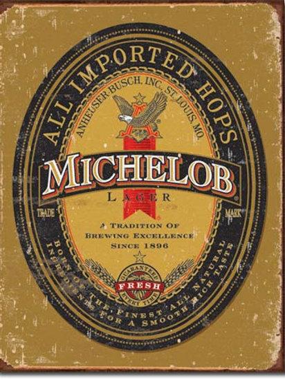 Michelob Logo Metal Sign #1392