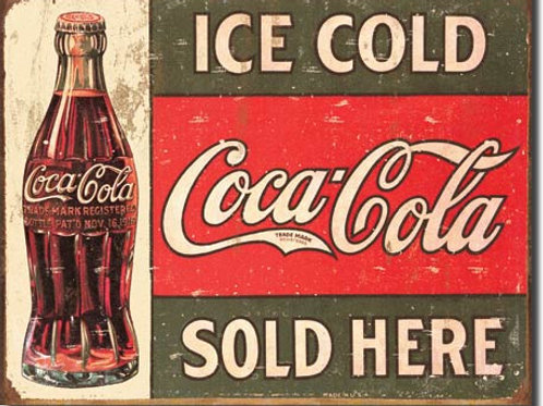 Coca Cola - Ice Cold Coca Cola Sold Here Metal Sign #1299