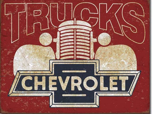 Chevy Trucks 40's Metal Sign #2197