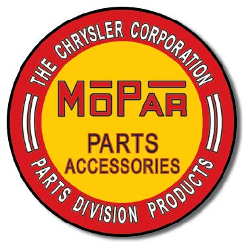 Mopar Parts Accessories Metal Sign #613