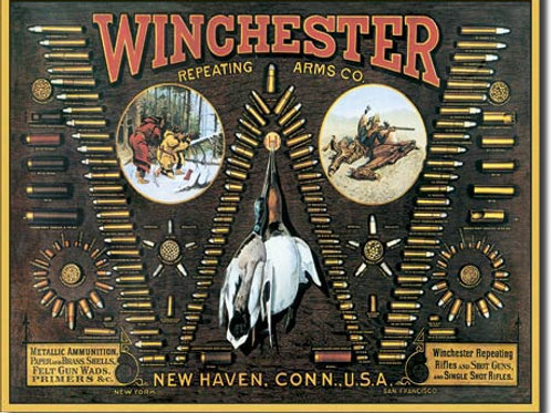 Winchester Bullet Board Metal Sign #942
