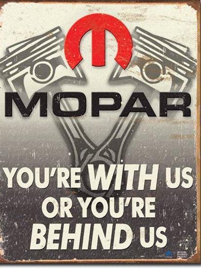 Mopar - Behind Us Metal Sign #2015