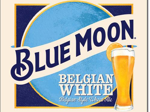 Blue Moon Belgian Wheat Metal Sign #2336