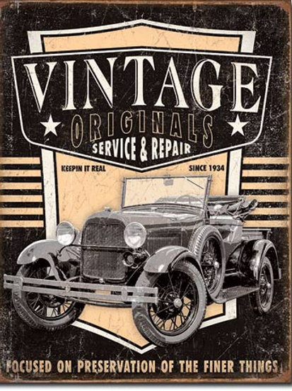 Vintage Originals Service & Repair Metal Sign #2027