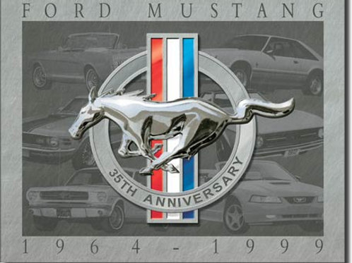 Mustang - 35th Anniversary Metal Sign #902