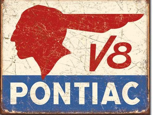 Pontiac V8 Metal Sign #1907