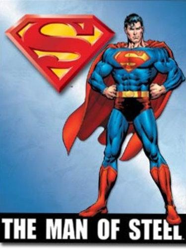 Superman Man of Steel Metal Sign #1337
