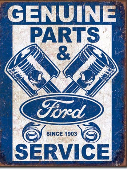 Ford Service - Pistons Metal Sign #2068