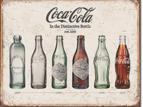 Coca Cola - Bottle Evolution Metal Sign #1839