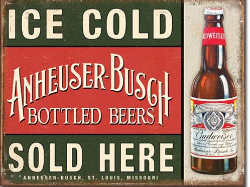 Anheuser-Busch Ice Cold Beer Metal Sign #2081