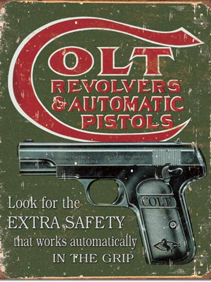 COLT - Extra Safety Metal Sign #1592