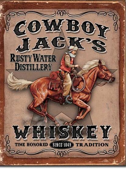 Cowboy Jacks Metal Sign #1805