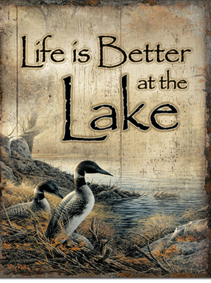 Life's Better at the Lake Metal Sign #2323