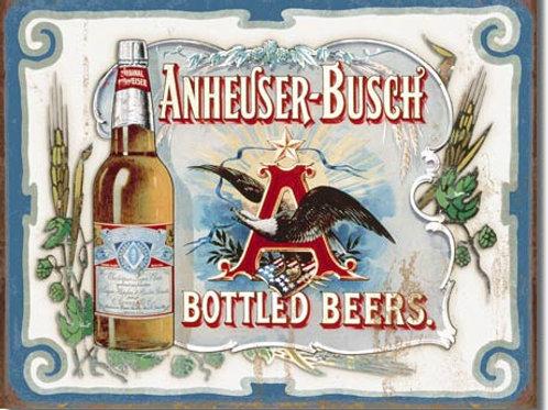 Anheuser Busch Bottled Beers Metal Sign #1519