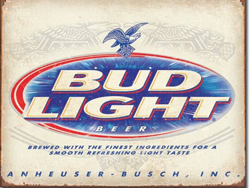 Bud Light Retro Metal Sign #2184