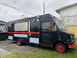 Black N Red Beauty! Mostly New 18' Food Truck with HUGE HOOD!