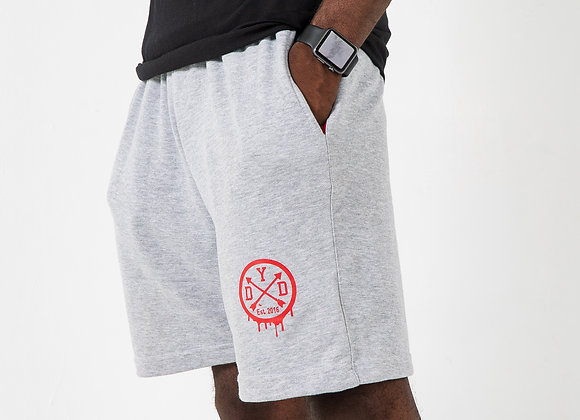 """DYD """"Comfy Shorts"""" Grey & Red"""