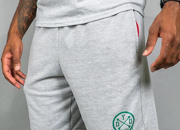 """DYD """"Comfy Shorts"""" Grey & Green"""
