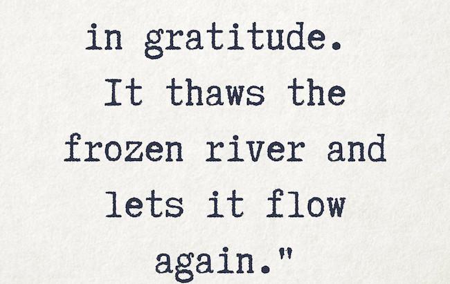 On Gratitude...