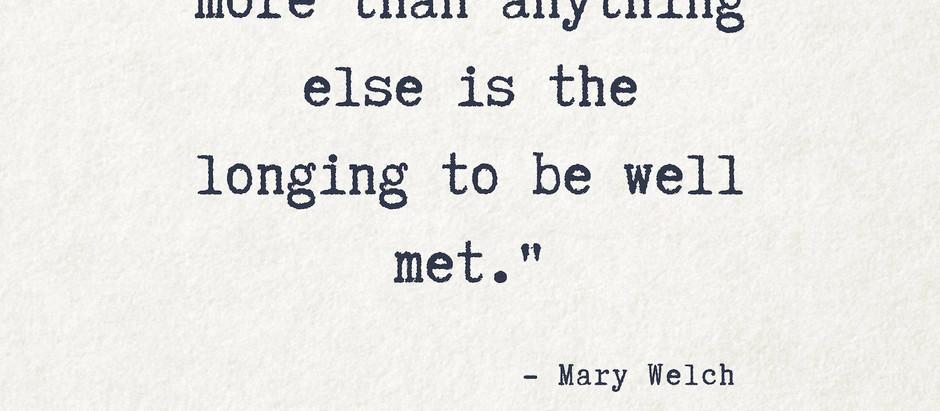 On longing...