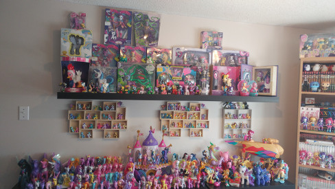 Large collection of My Little Pony toys