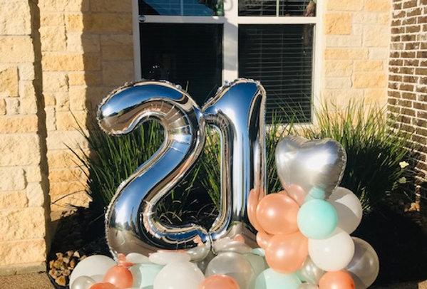 Birthday Arrangement Double
