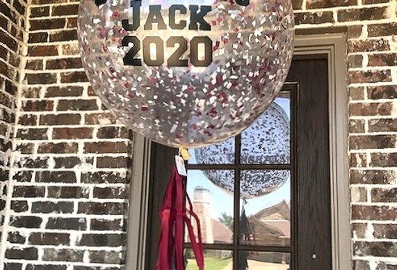 Confetti balloon with vinyl