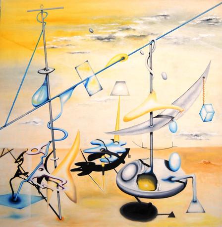 Ruddy Duck. Oil on canvas.
