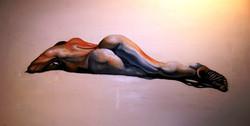 'Lying nude'