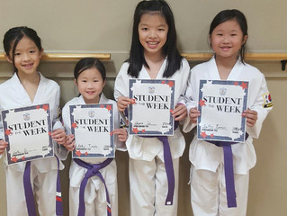 Student(s) of the Week - Kaitlyn and Kelly Tumewu, and Chiara and Cayla Su!