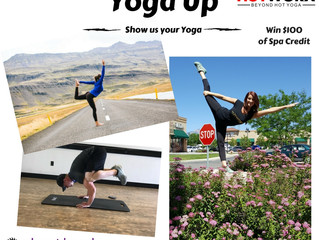 Show us your Yoga where ever you are and win $100.