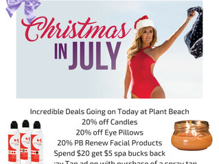 Christmas in July at Planet Beach!