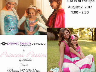 Elsa will be at the spa August 2nd.