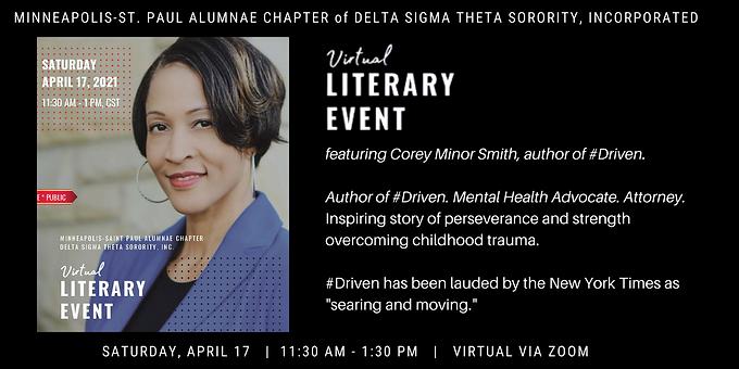 Virtual Literary Event featuring Corey Minor Smith