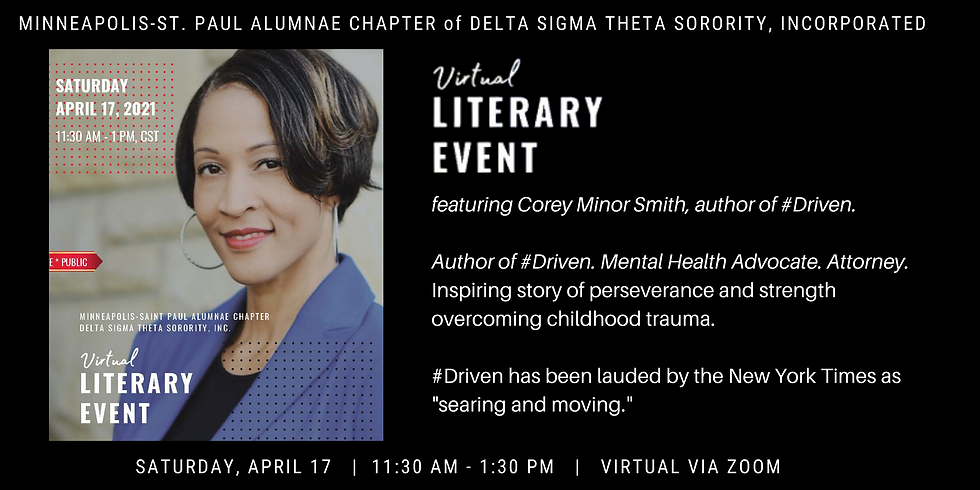 Virtual Literary Event featuring Corey Minor Smith