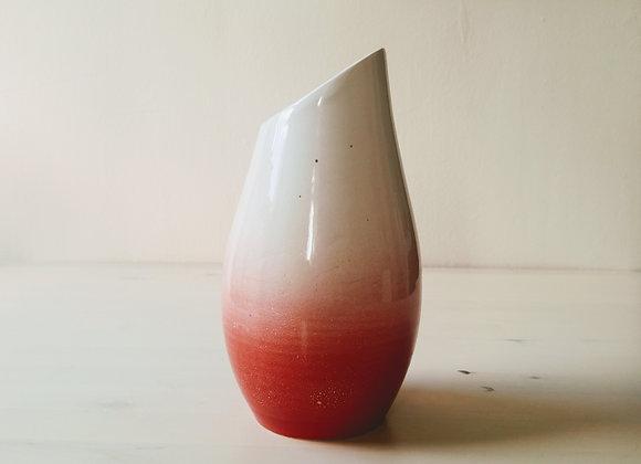 Red Cut Vase