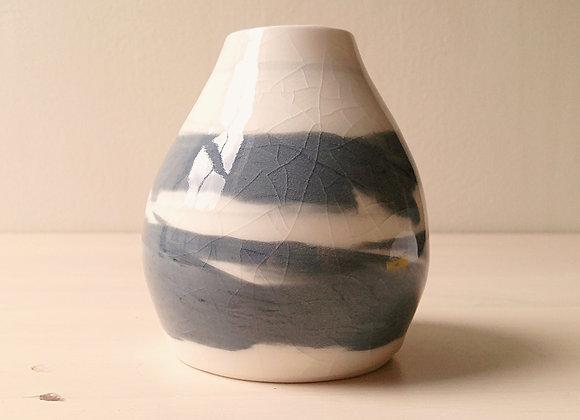 Almost Black Oval Vase