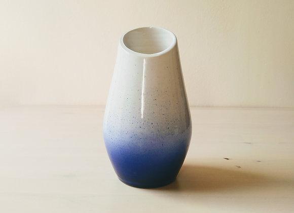 Blue Cut Vase