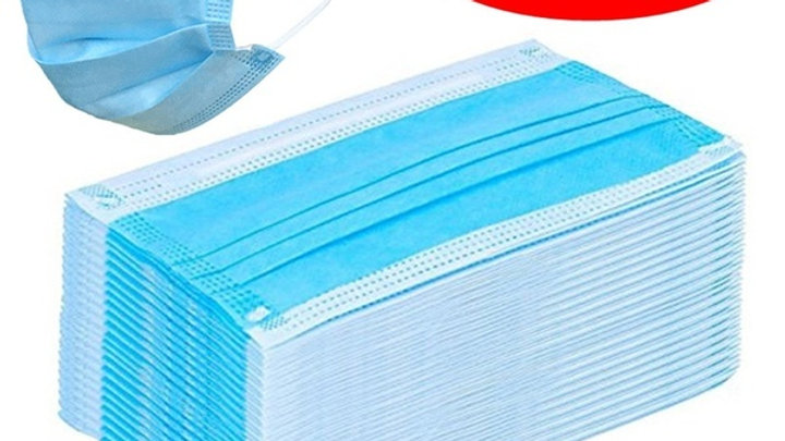 3-Ply Face Mask Blue Box of 50