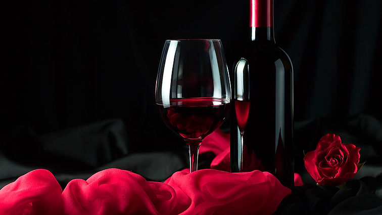Wine_Black_background_Bottle_Stemware_51