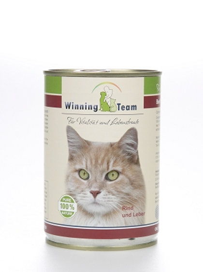 """""""Winning Team"""" Katze, Rind und Leber, 400g"""
