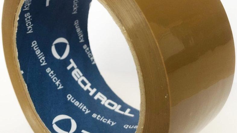 Скотч упаковочный прозрачный, коричневый 48мм*40мкм*150мм