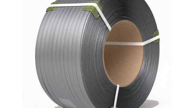 Стреппинг-лента 15*1,0*1200м для ручной и полуавтоматической обвязки,Серая