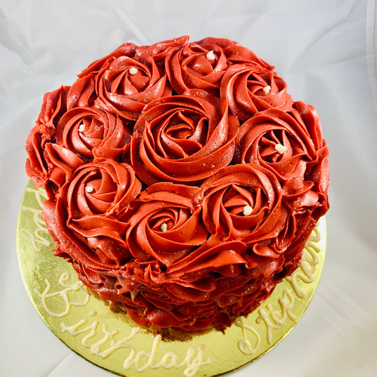 6-inch Rosette 24-Carrot Cake Covered in Cream Cheese Flavored Buttercream Frosting