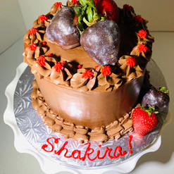 Butter Lovers Cake with Strawberries