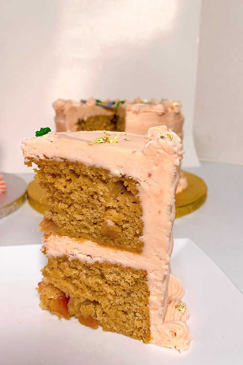 Peach Pleasers Cake Slice