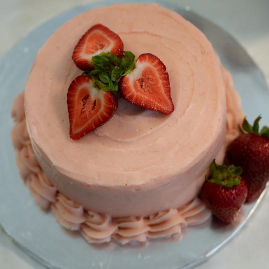 Strawberry Succulence Cake